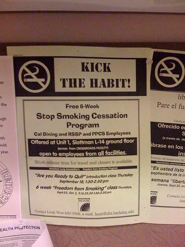 Stop Using tobacco Cessation