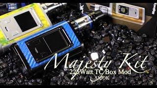 Smok MAJESTY 225Watt TC Box Mod Kit with TFV8 TFV8 X Baby MOD and TANK Overview