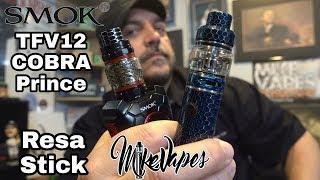 Smok TFV12 Cobra Prince &amp Resa Stick Review – Mesh coils!! – Mike Vapes