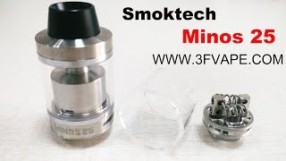 Authentic Smoktech Minos Sub Tank Unboxing Overview – 3FVape