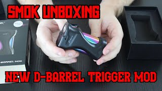 SMOK D-Barrel Mod UNBOXING! A New Trigger Type SMOK Mod