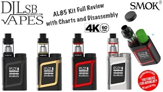 SMOK AL85 Package Total Evaluation and with Charts and Disassembly