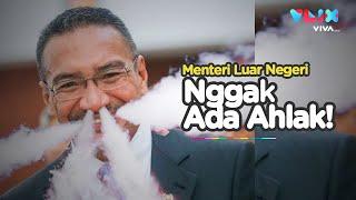 Gak Ada Ahlak! Menteri Luar Negeri Vaping Saat Rapat di Parlemen