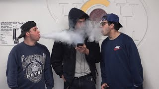 Aggressively Vaping In People&#39s Faces