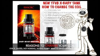 How to modify the coil and cleanse Smok TFV8 X-Child Beast Brother Vape Tank on G-PRIV Kit 2