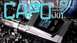 CAPO 100W Box Mod Starter Package by iJOY ~BOX MOD and TANK Overview~