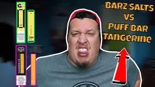 BARZ Disposable Vape vs Puff Bar Tangerine Ice Evaluation