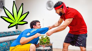 Cigarette smoking Weed Prank On Stringent Uncle!! *WE FOUGHT*