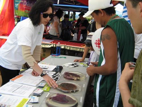 VCH's Tobacco Cessation Program's lung disease exhibit at the Pride Parade 2011